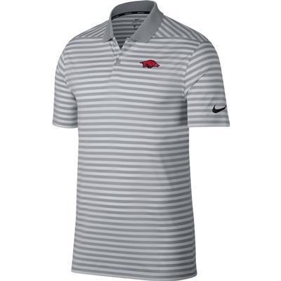 Arkansas Nike Golf Victory Stripe Polo