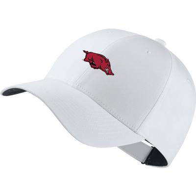 Arkansas Nike Golf Dri-Fit Tech Cap WHITE