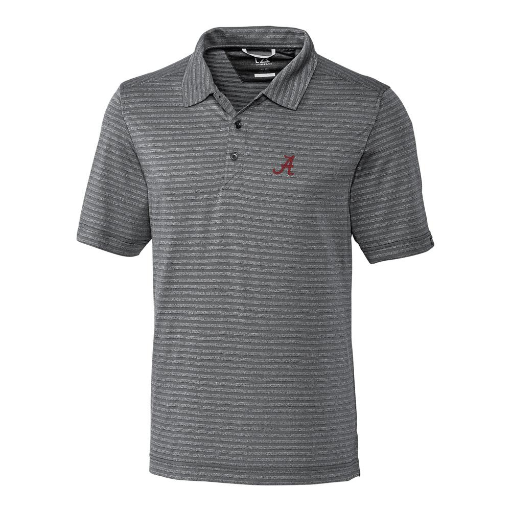 Alabama Cutter & Buck Cascade Stripe Polo