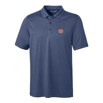 Auburn Cutter & Buck Cascade Stripe Polo