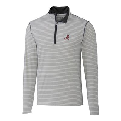 Alabama Cutter & Buck Meridian 1/2 Zip Pullover BLACK