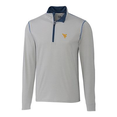 West Virginia Cutter & Buck Meridian 1/2 Zip Pullover
