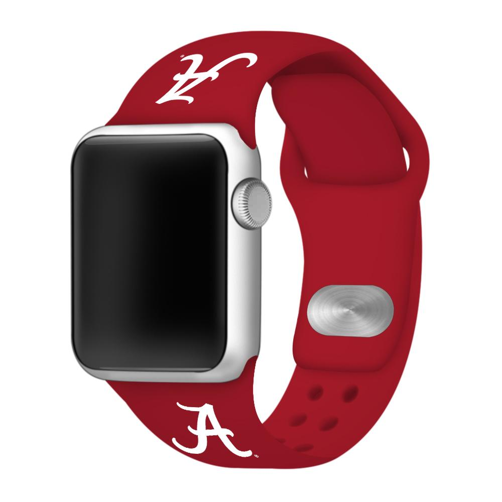 Crimson Tide- Alabama Script A Apple Watch Silicone Sport Band 38mm