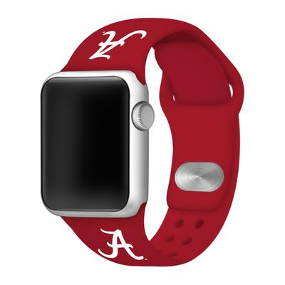 Alabama Script A Apple Watch Silicone Sport Band 38mm