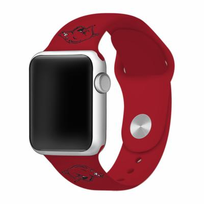Arkansas Apple Watch Silicone Sport Band 38mm