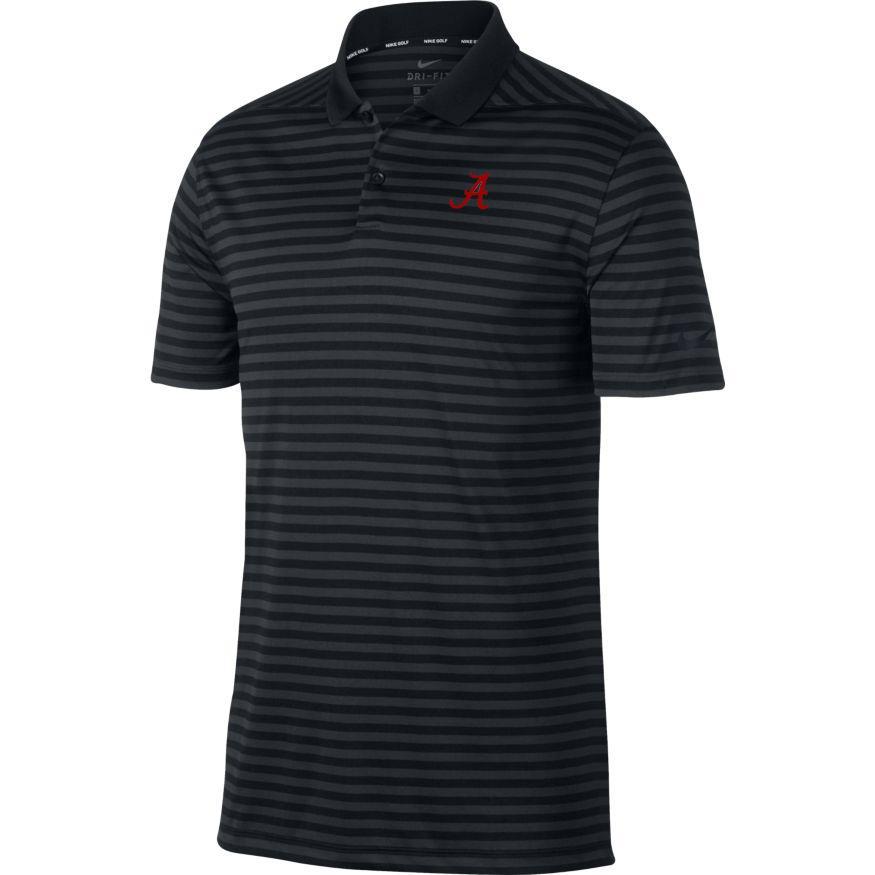 Alabama Nike Golf Dry Victory Stripe Polo