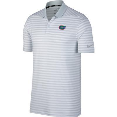 Florida Nike Golf Dry Victory Stripe Polo PURE_PLATINUM