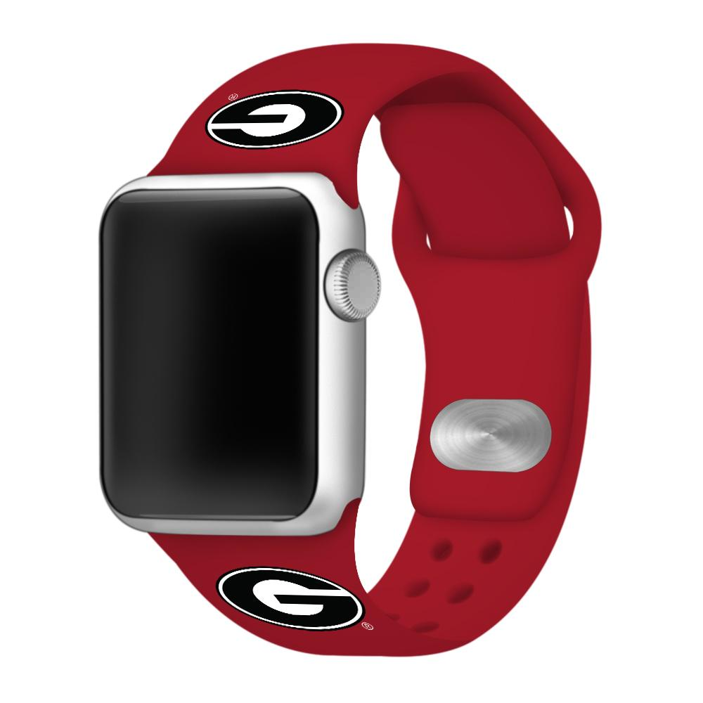Georgia Red Apple Watch Silicone Sport Band 38mm