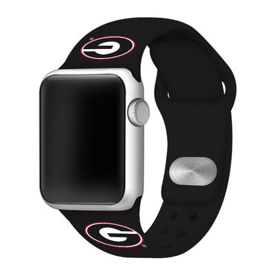 Georgia Black Apple Watch Silicone Sport Band 38mm