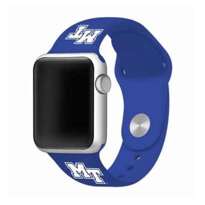 MTSU Apple Watch Silicone Sport Band 38mm