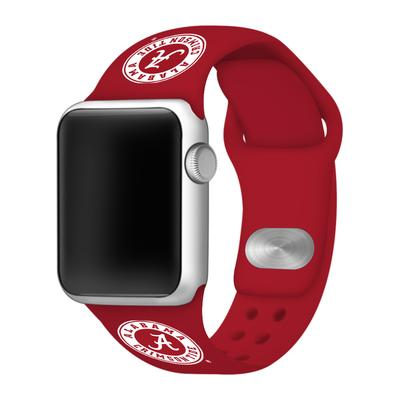 Alabama Crimson Tide Apple Watch Silicone Sport Band 42mm