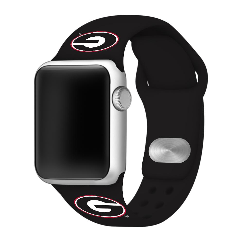 Georgia Black Apple Watch Silicone Sport Band 42mm
