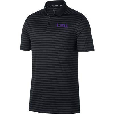 LSU Nike Golf Dry Victory Stripe Polo