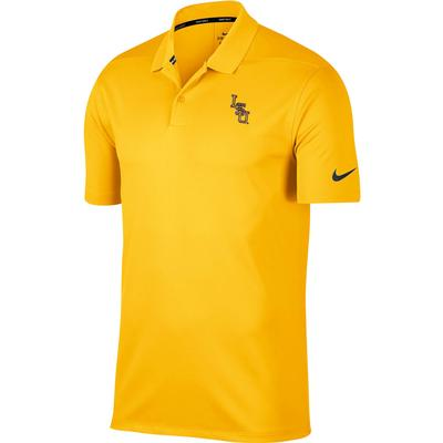 LSU Nike Golf Interlock Dry Victory Solid Polo