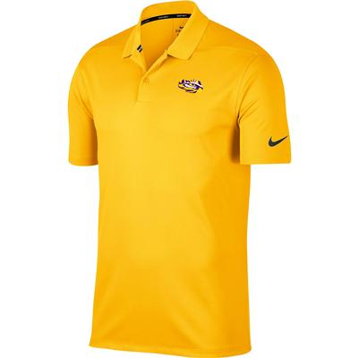 LSU Nike Golf Tiger Eye Dry Victory Solid Polo
