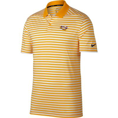 LSU Nike Golf Dry Victory Stripe Tiger Eye Polo