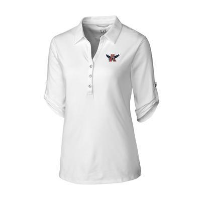 Auburn Cutter & Buck Women's Thrive Roll Sleeve Vault Polo