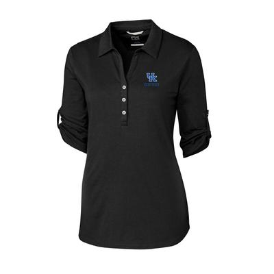 Kentucky Cutter & Buck Women's Thrive Roll Sleeve Polo