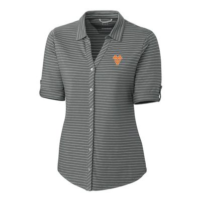 Tennessee Cutter & Buck Women's Academy Button Down Front Vault Logo Top