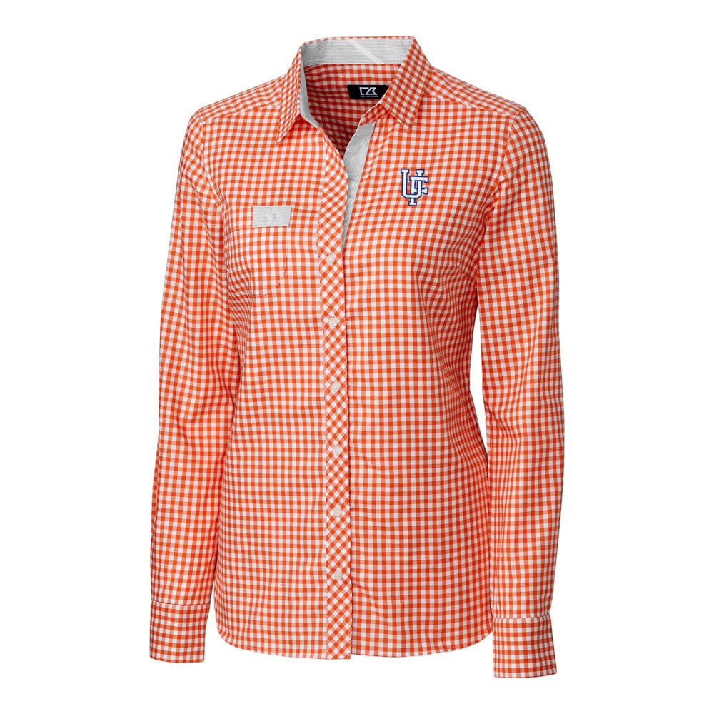 Florida Cutter & Buck Women's Gingham Buttondown Shirt