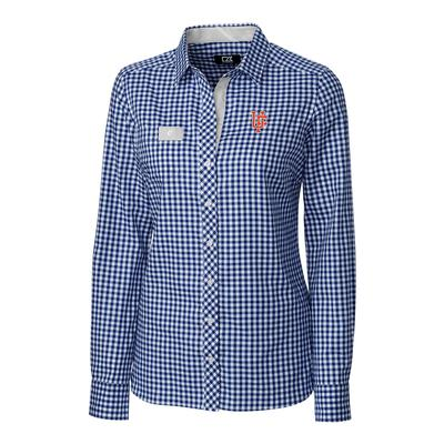 Florida Cutter & Buck Women's Gingham Buttondown Shirt TOUR_BLUE