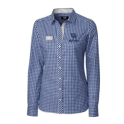 Kentucky Cutter & Buck Women's Gingham Buttondown Shirt