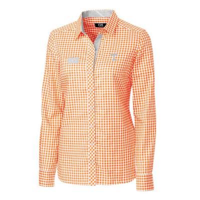 Tennessee Cutter & Buck Women's Gingham Buttondown Shirt