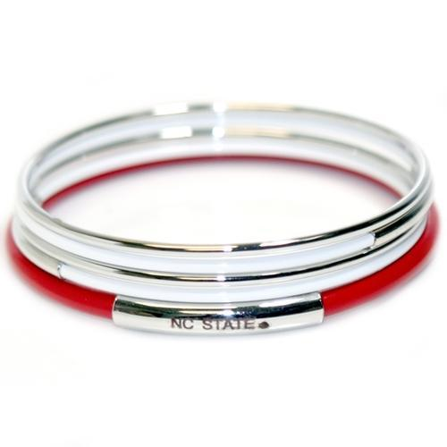 Nc State Stacked Bracelets