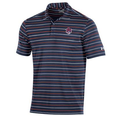 Auburn Under Armour Performance Stripe Tiger Vault Logo Polo