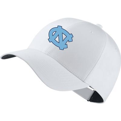 UNC Nike Golf Dri-Fit Tech Cap WHITE