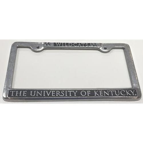 Wildcats Kentucky Pewter License Plate Frame Alumni Hall