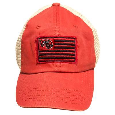 Western Kentucky Top Of The World Flag Trucker Adjustable Hat