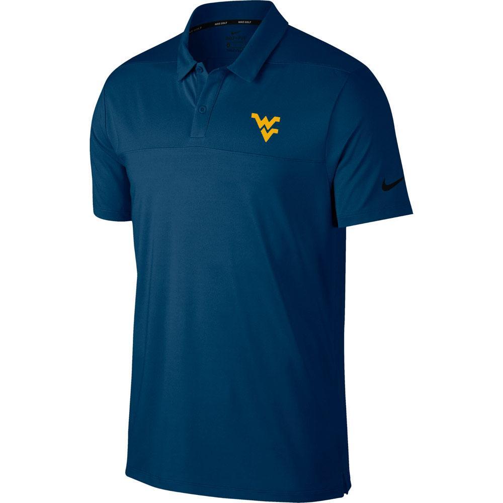 West Virginia Nike Golf Dry Color Block Polo
