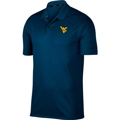 West Virginia Nike Golf Dry Victory Solid Polo NAVY