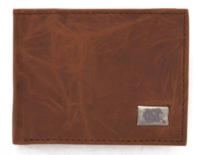 UNC Leather Bi-Fold Wallet