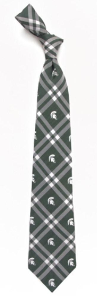 Michigan State Men's Woven Rhodes Tie