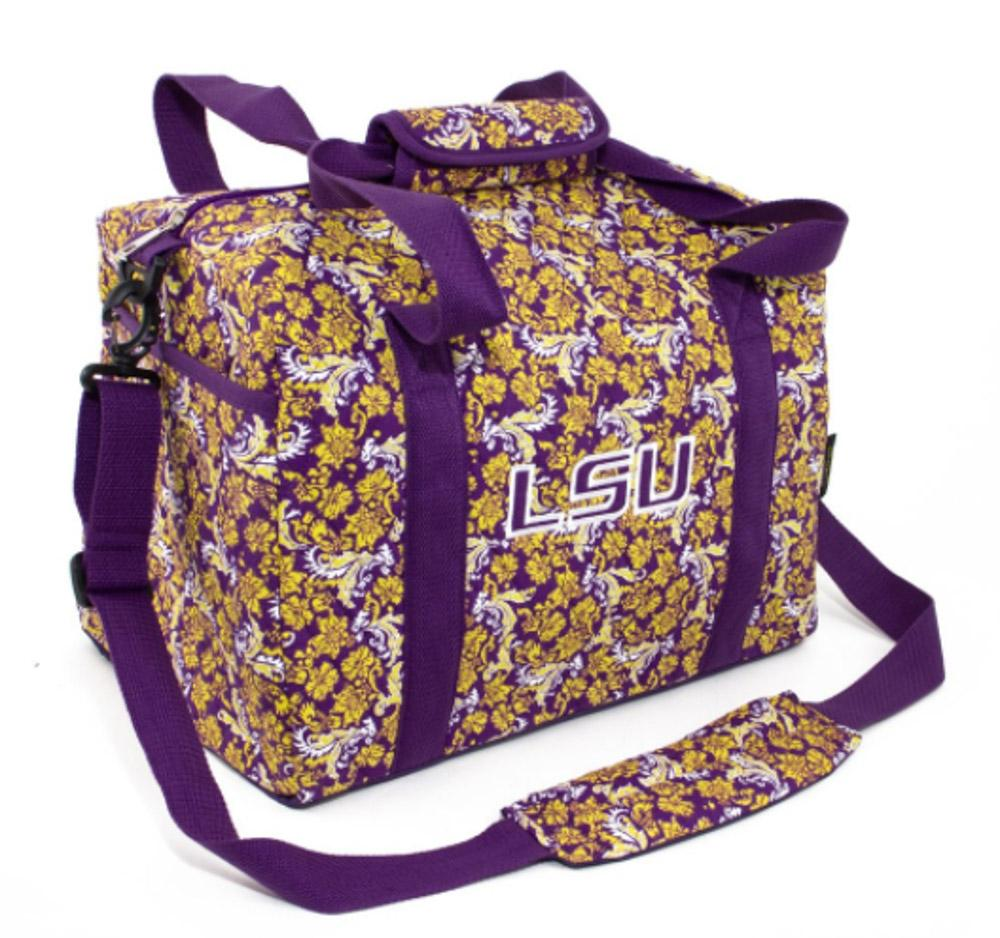 Lsu Mini Duffel Bag Bloom Pattern