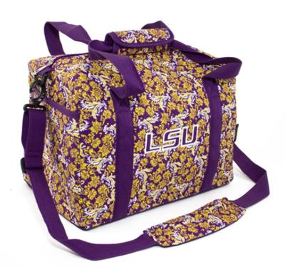 LSU Mini Duffel Bag Bloom Pattern