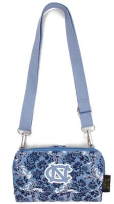 UNC Eagle Wings Bloom Crossbody Wallet
