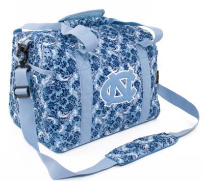 UNC Mini Duffle Bag Bloom Pattern