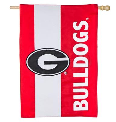 Georgia Bulldogs Striped House Flag