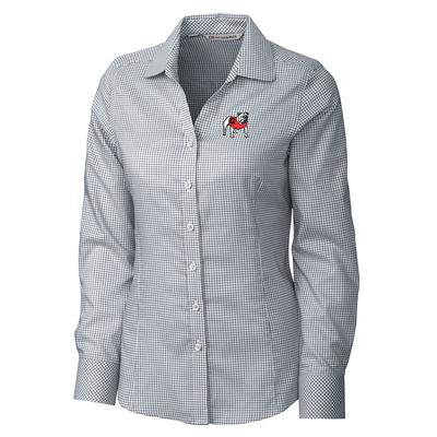 Georgia Cutter And Buck Women's Tattersall Vault Logo Button Down