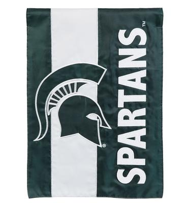 Michigan State Spartans Striped House Flag
