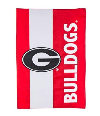 Georgia Bulldogs Striped Garden Flag