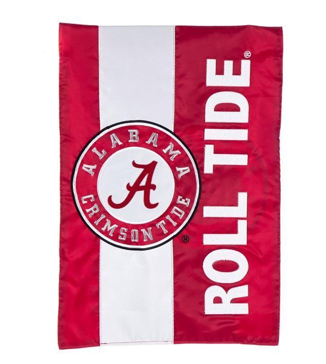 Alabama Crimson Tide Striped Garden Flag