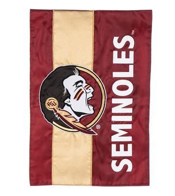 Florida State Seminoles Striped Garden Flag