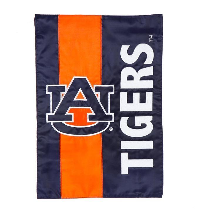 Auburn Tigers Striped Garden Flag