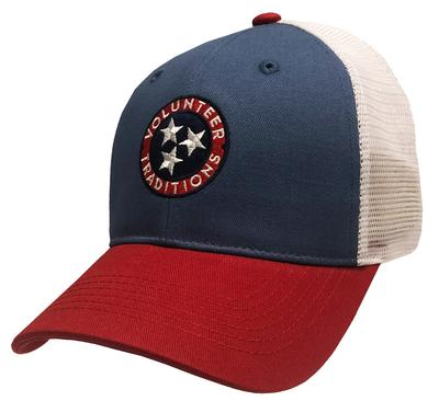 Volunteer Traditions Red and Blue Tristar Trucker Cap