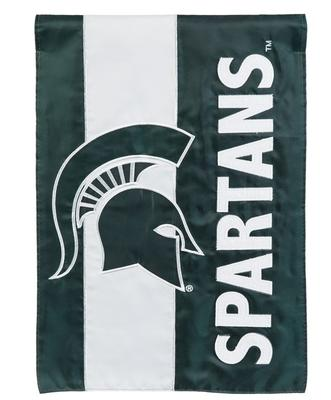 Michigan State Striped Garden Flag