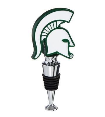 Michigan State Helmet Bottle Stopper